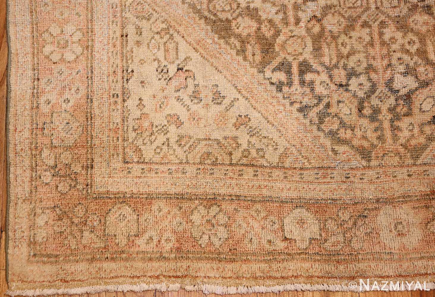 antique persian mahal rug 50287 corner Nazmiyal