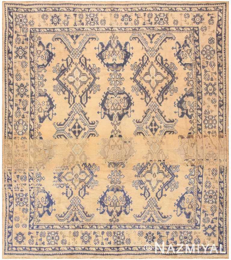 Antique Turkish Oushak Carpet 47140 Nazmiyal