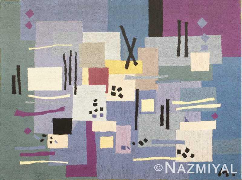 Artistic Vintage French Art Deco Carpet 48592 Nazmiyal