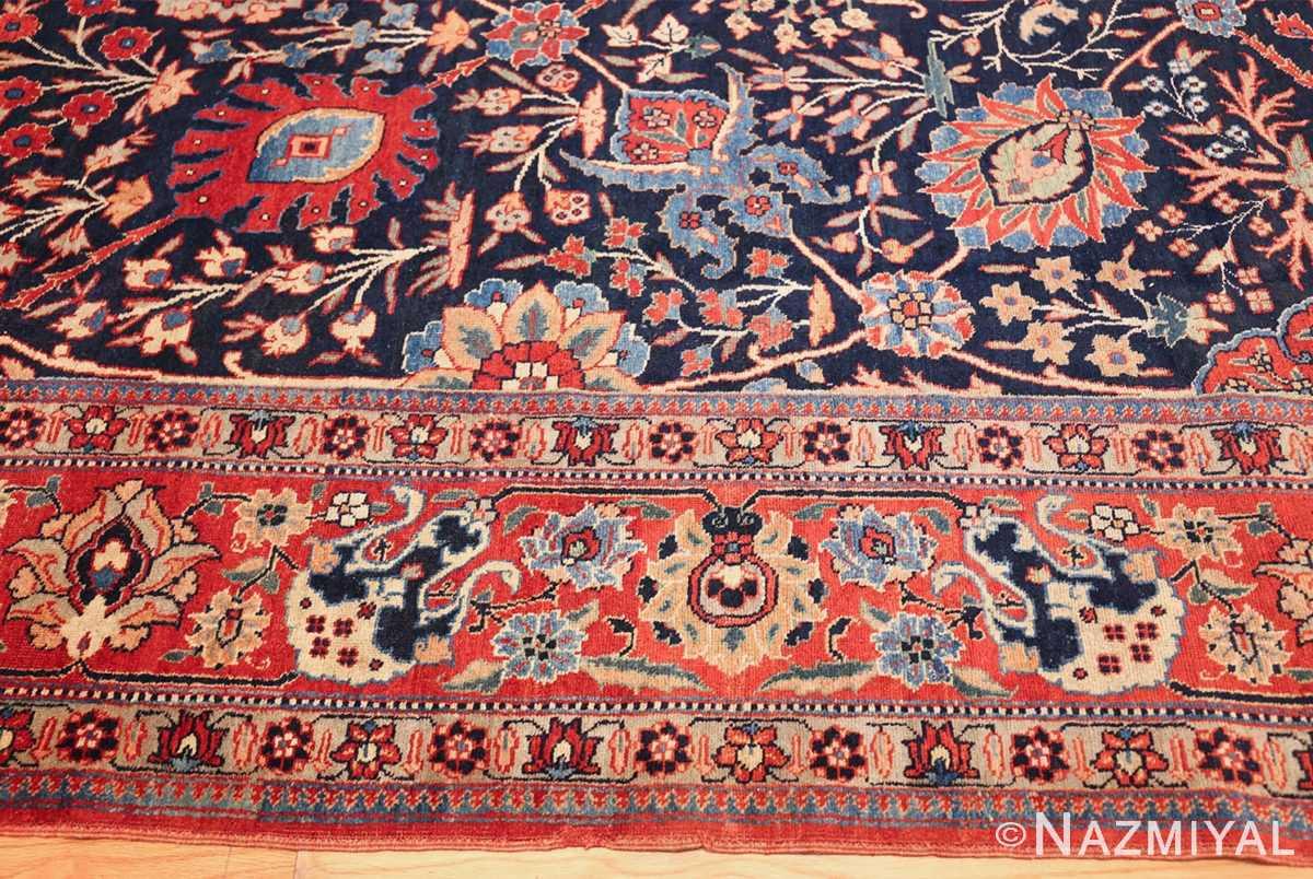 blue antique vase design persian tabriz rug 48569 border Nazmiyal
