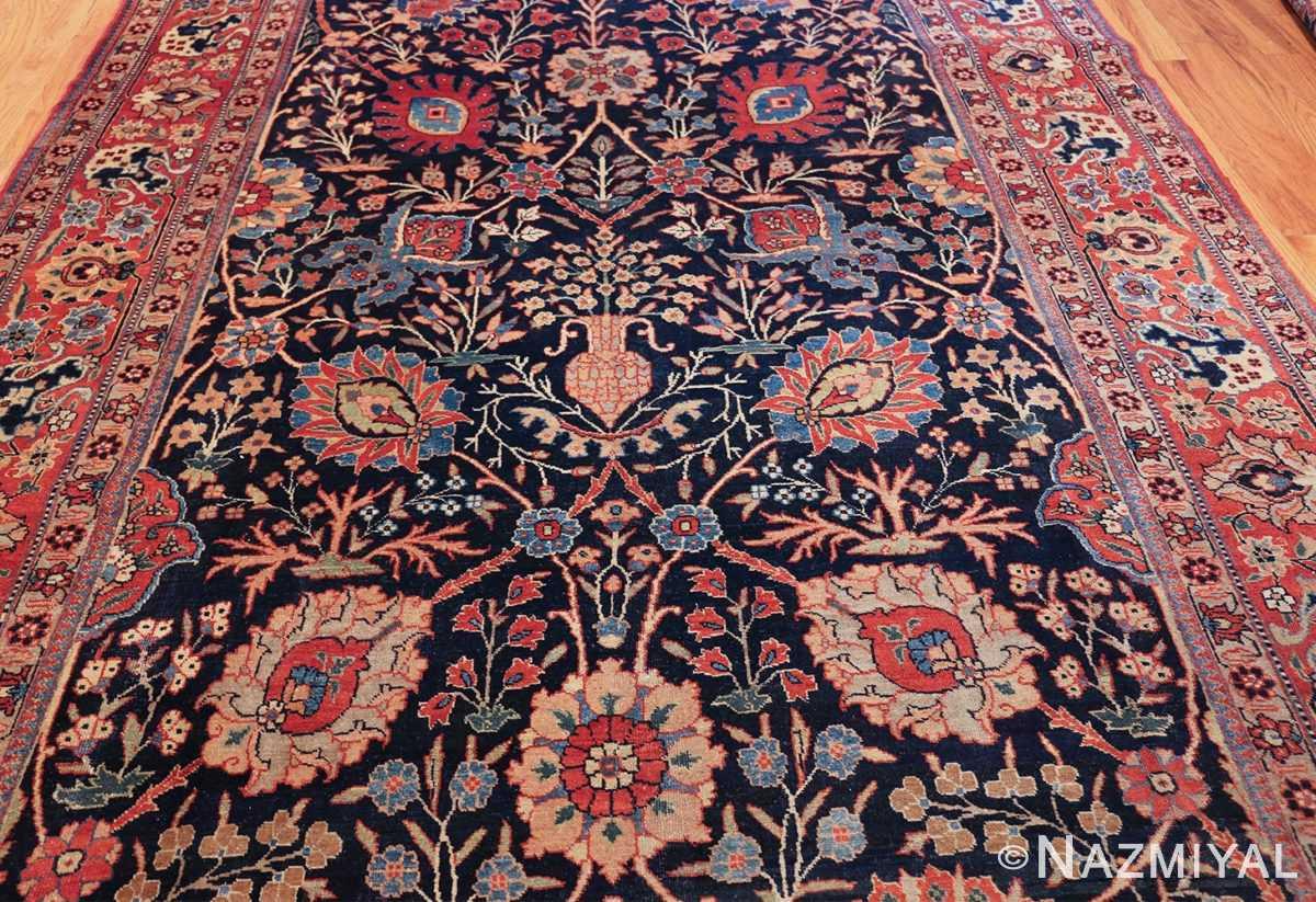 blue antique vase design persian tabriz rug 48569 field Nazmiyal