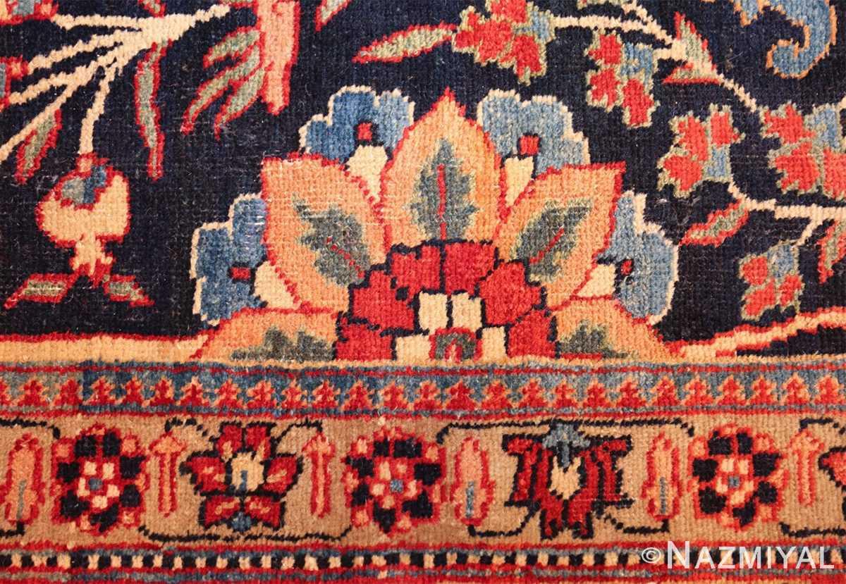 blue antique vase design persian tabriz rug 48569 flower Nazmiyal