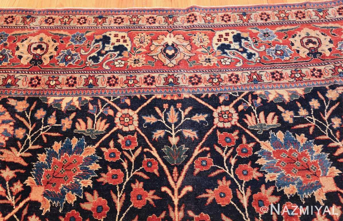 blue antique vase design persian tabriz rug 48569 top Nazmiyal