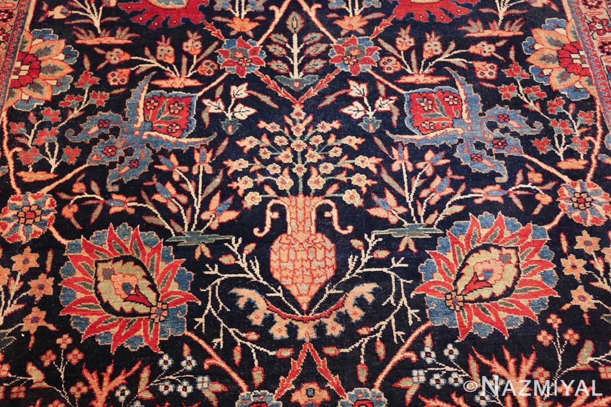 blue antique vase design persian tabriz rug 48569 vase Nazmiyal