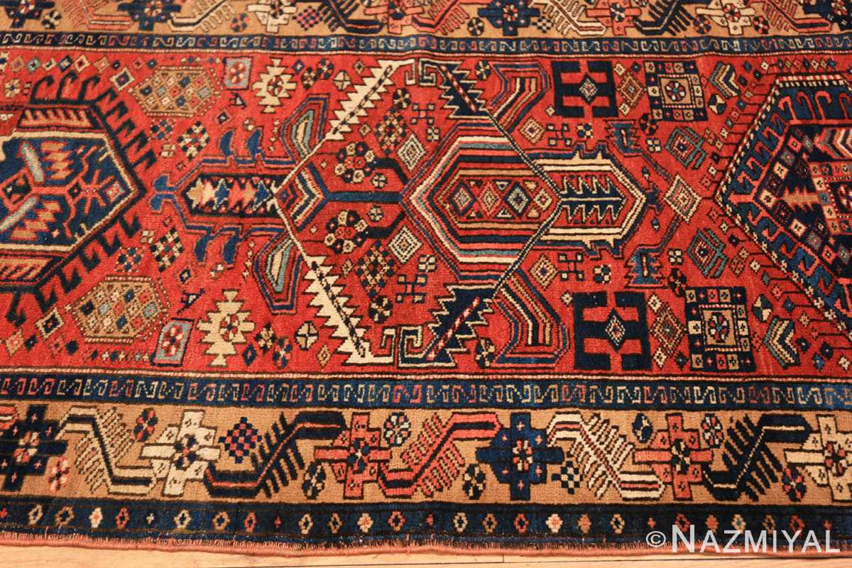 Border Antique Heriz Persian runner rug 50175 by Nazmiyal