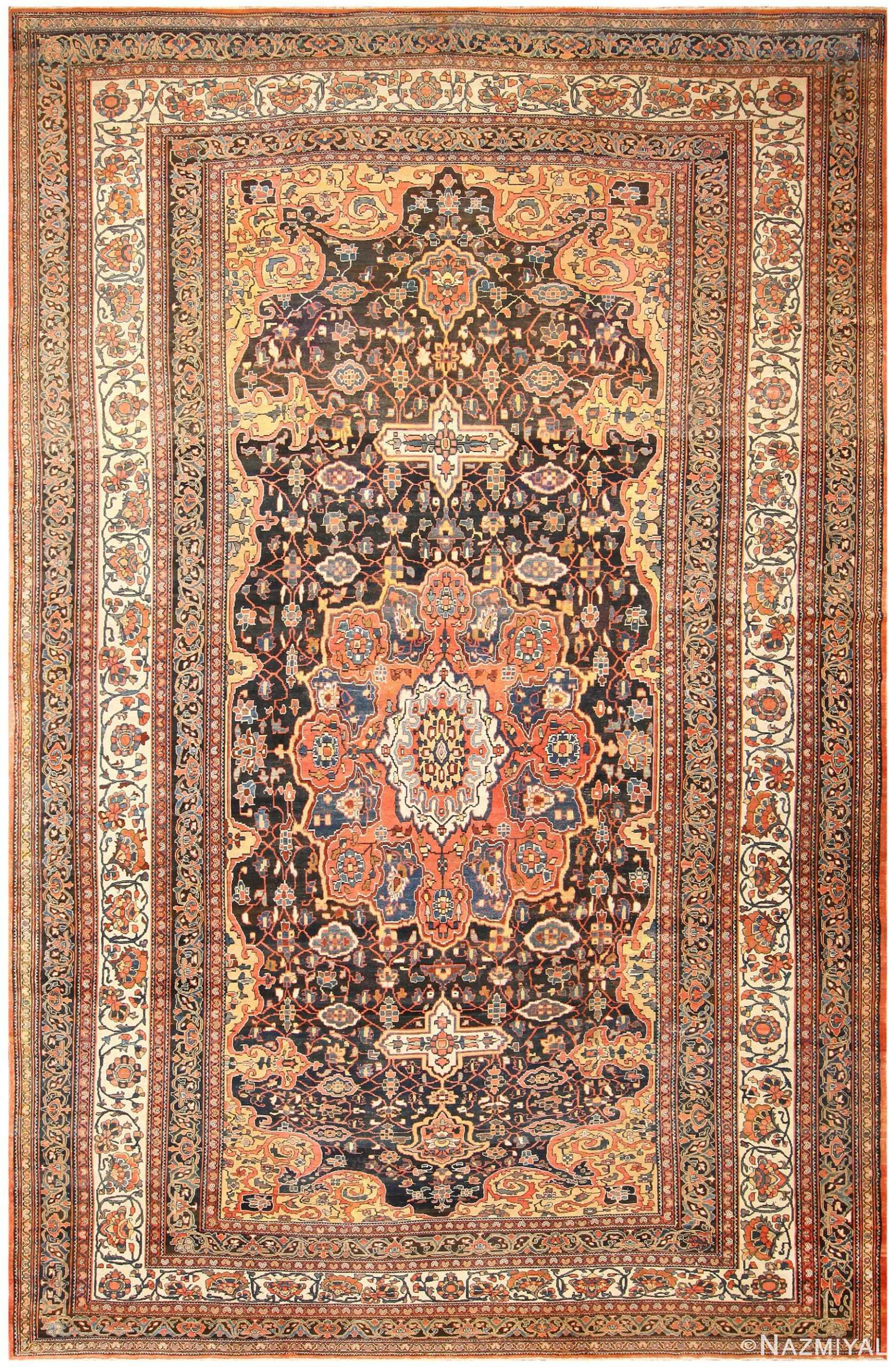 Large Antique Persian Bakhtiari Geometric Carpet 50120