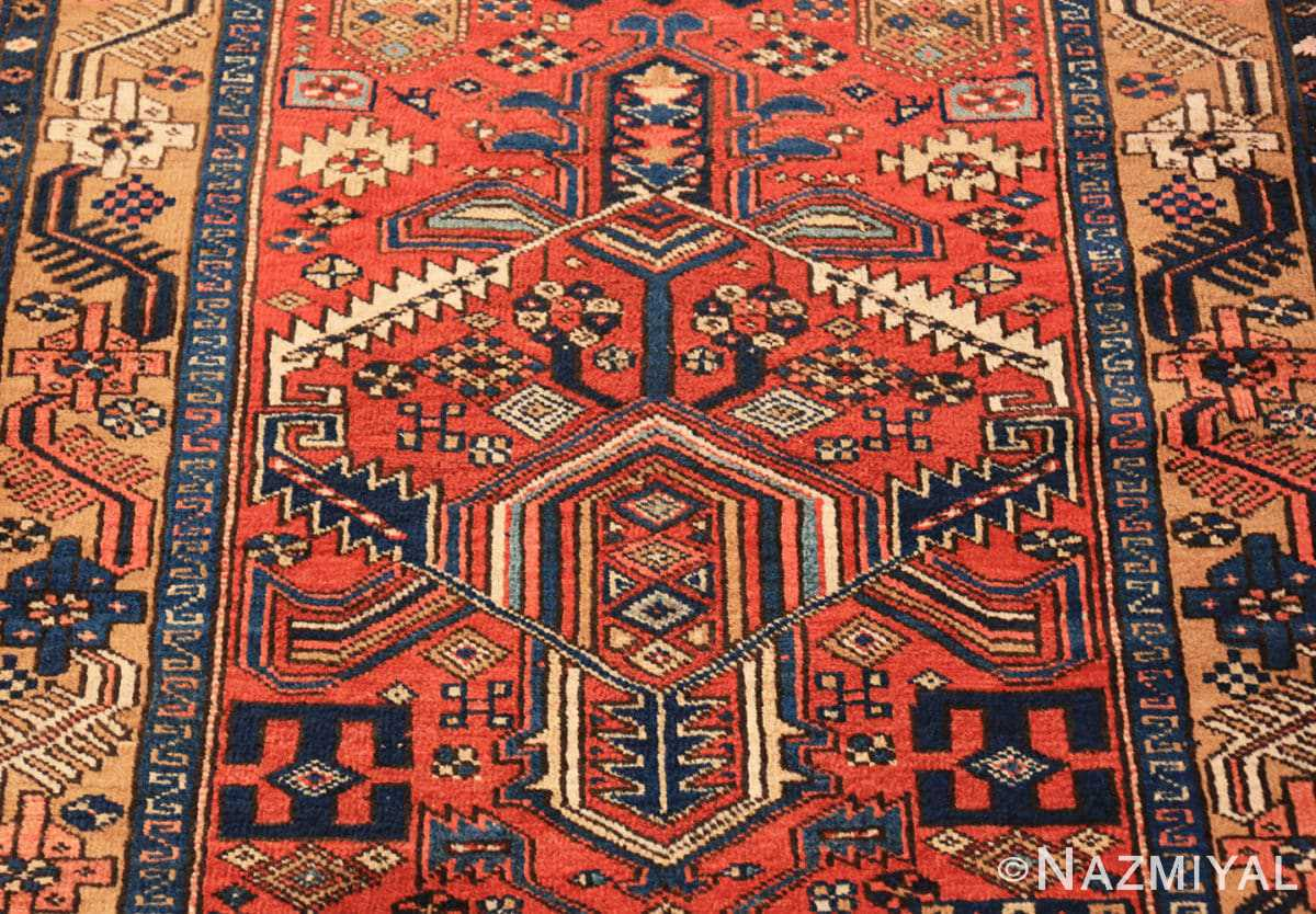 Field Antique Heriz Persian runner rug 50175 by Nazmiyal