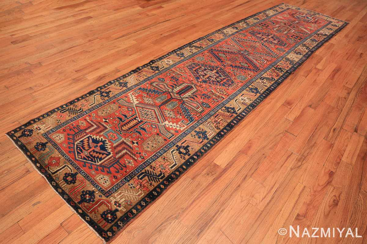 Full Antique Heriz Persian runner rug 50175 by Nazmiyal