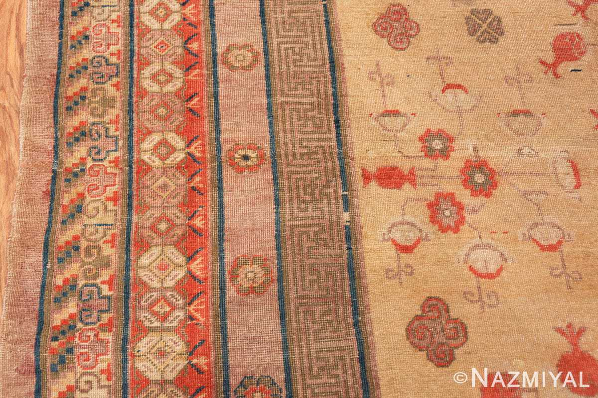 oversize antique samarkand khotan rug 50200 border Nazmiyal