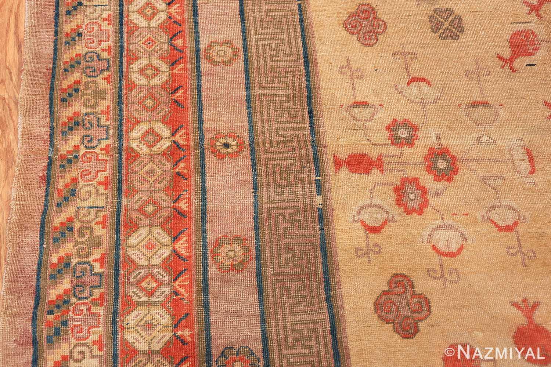 oversize antique samarkand khotan rug 50200 border Nazmiyal