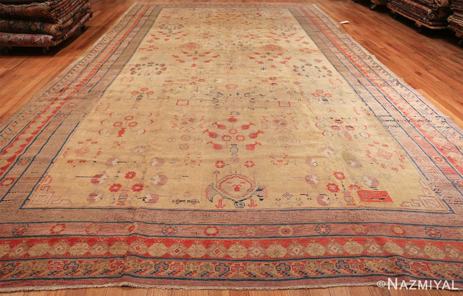 oversize antique samarkand khotan rug 50200 whole Nazmiyal