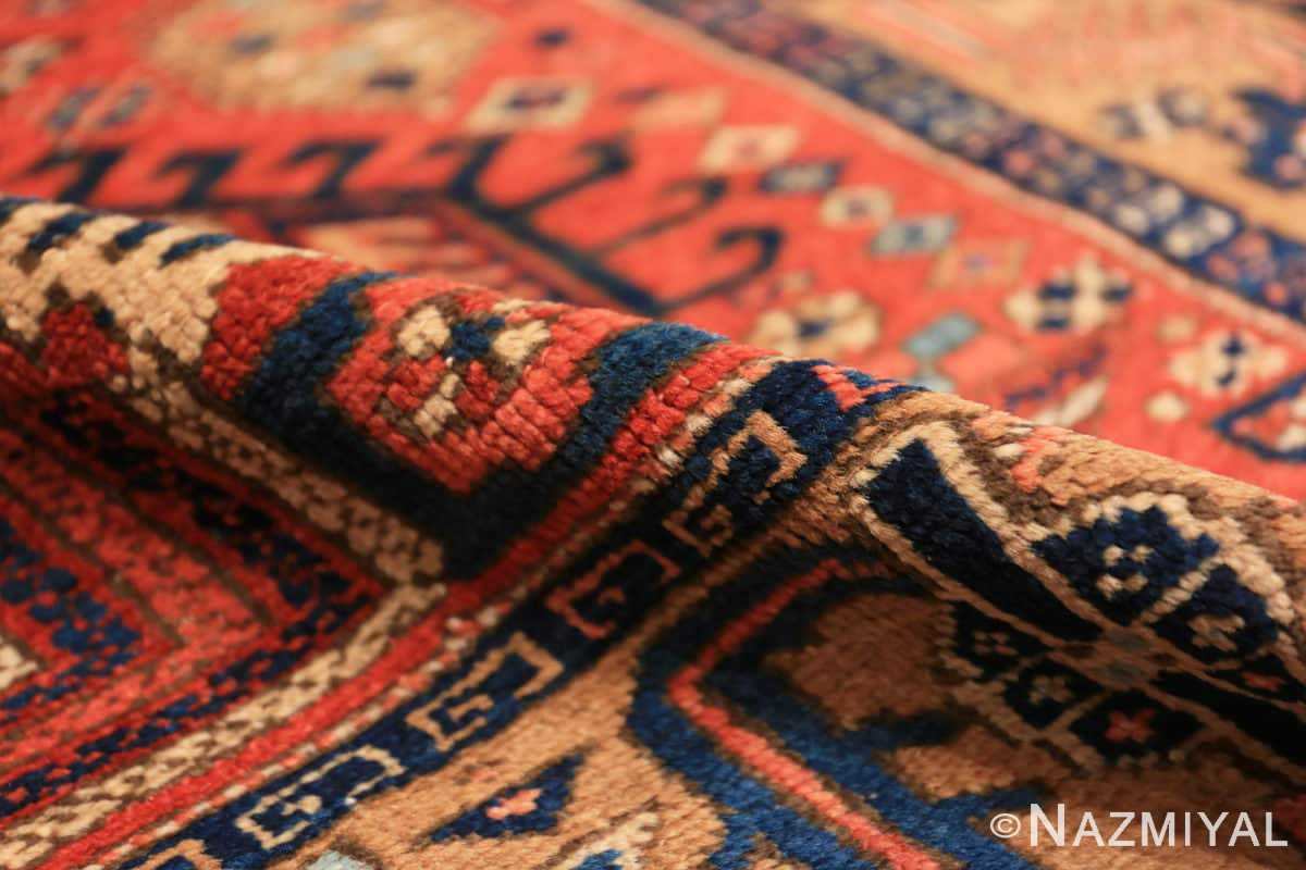 Pile Antique Heriz Persian runner rug 50175 by Nazmiyal