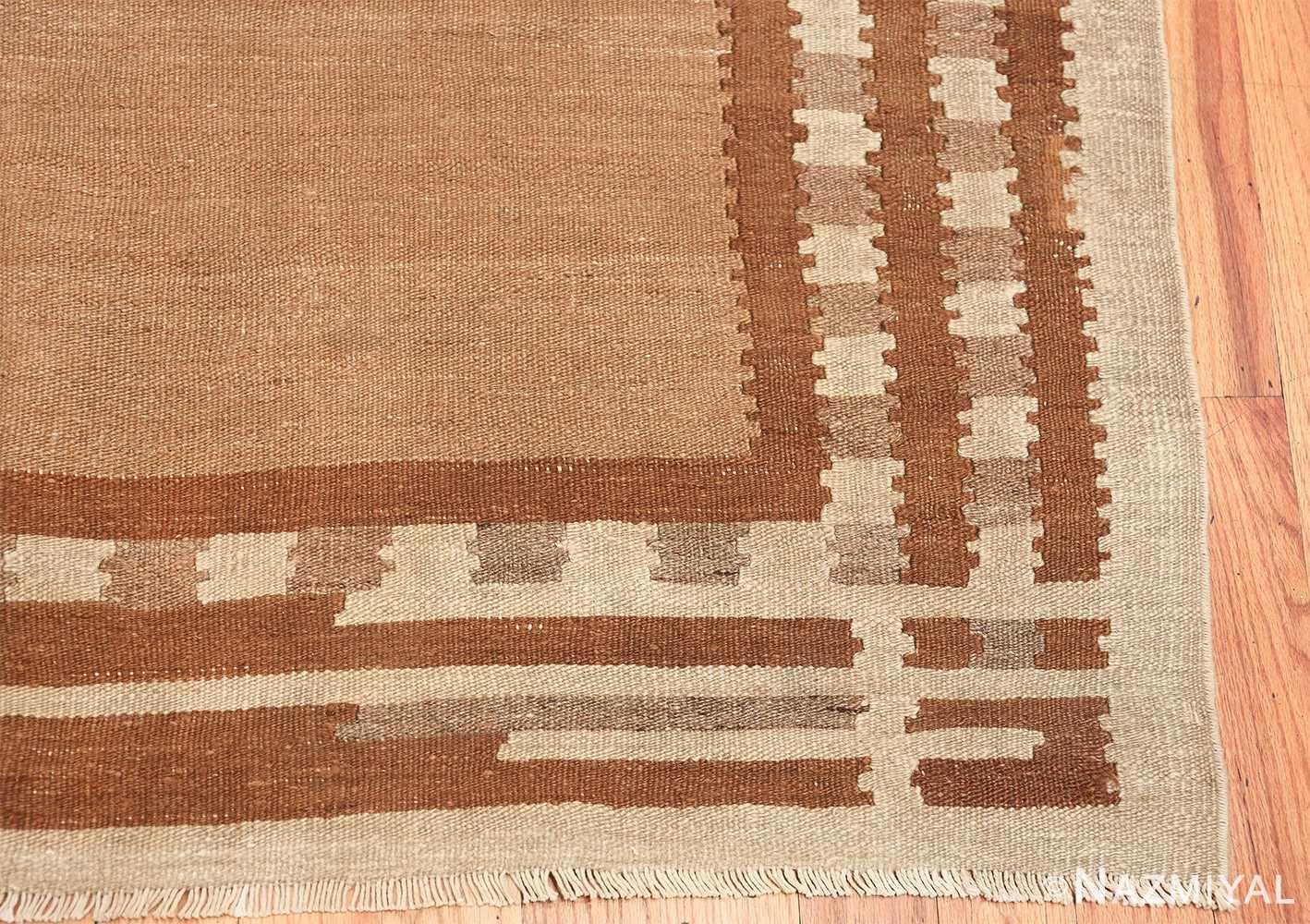 vintage scandinavian swedish kilim rug 48558 corner Nazmiyal