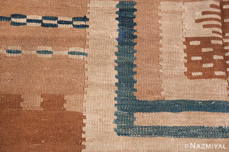 vintage scandinavian swedish kilim rug 48558 lines Nazmiyal