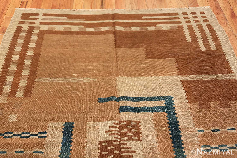 vintage scandinavian swedish kilim rug 48558 top Nazmiyal