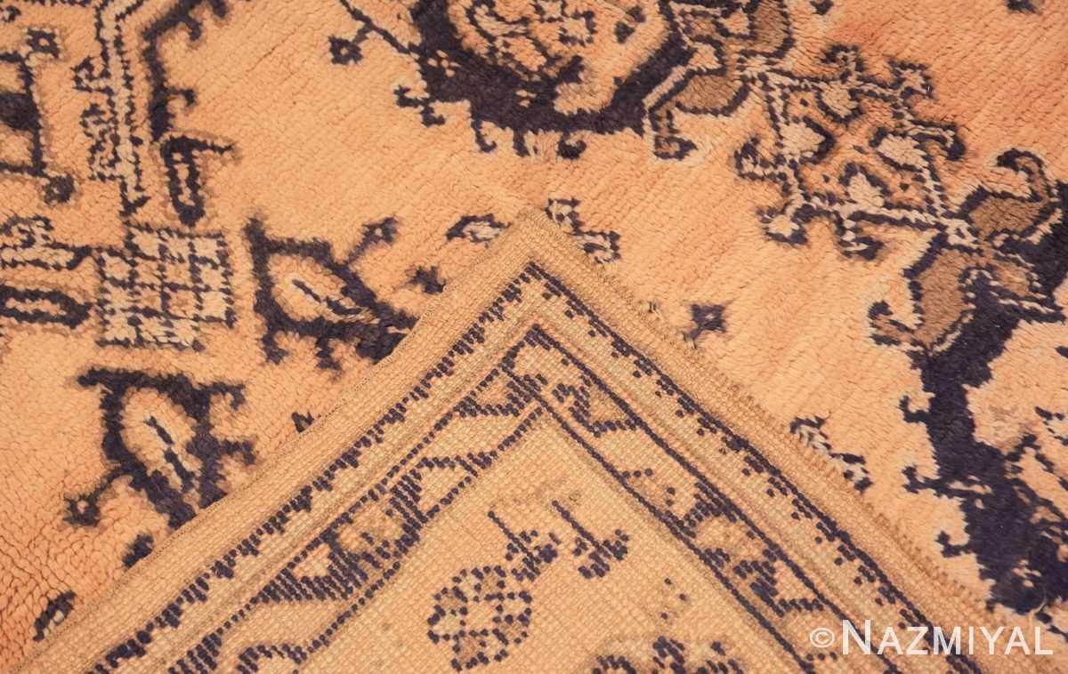 Weave decorative square size antique Turkish Oushak carpet 47140 by Nazmiyal