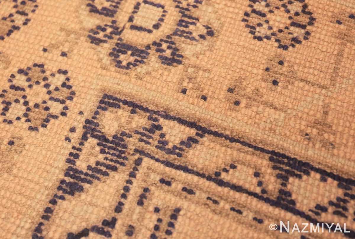 Weave detail decorative square size antique Turkish Oushak carpet 47140 by Nazmiyal