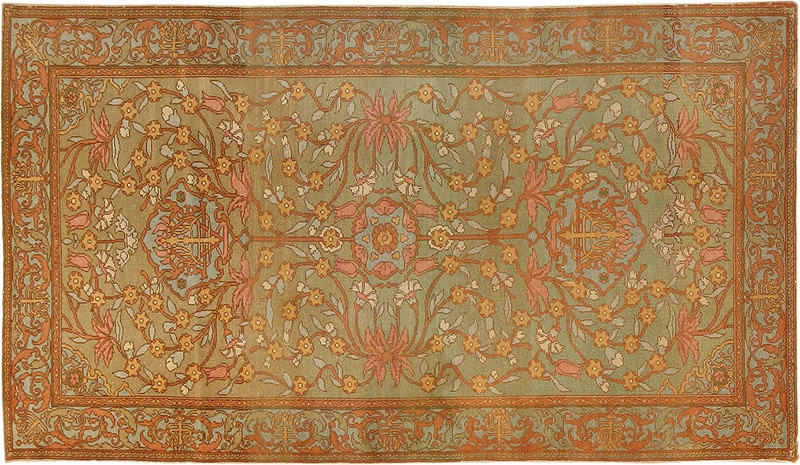 Antique Bezalel Rug from Jerusalem Israel 8514 by Nazmiyal