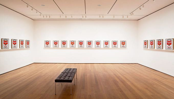 Andy Warhol Campbell's Soup Cans Exhibit At The MOMA Nazmiyal