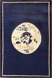 Collectible Antique Chinese Zodiac Scatter Rug 48627 Nazmiyal