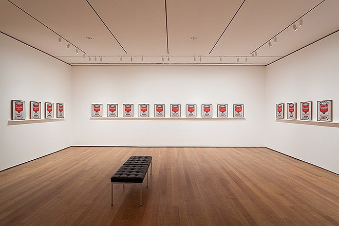 Moma Art Exhibit | Andy Warhol Soup Can Art Work 1953-1967