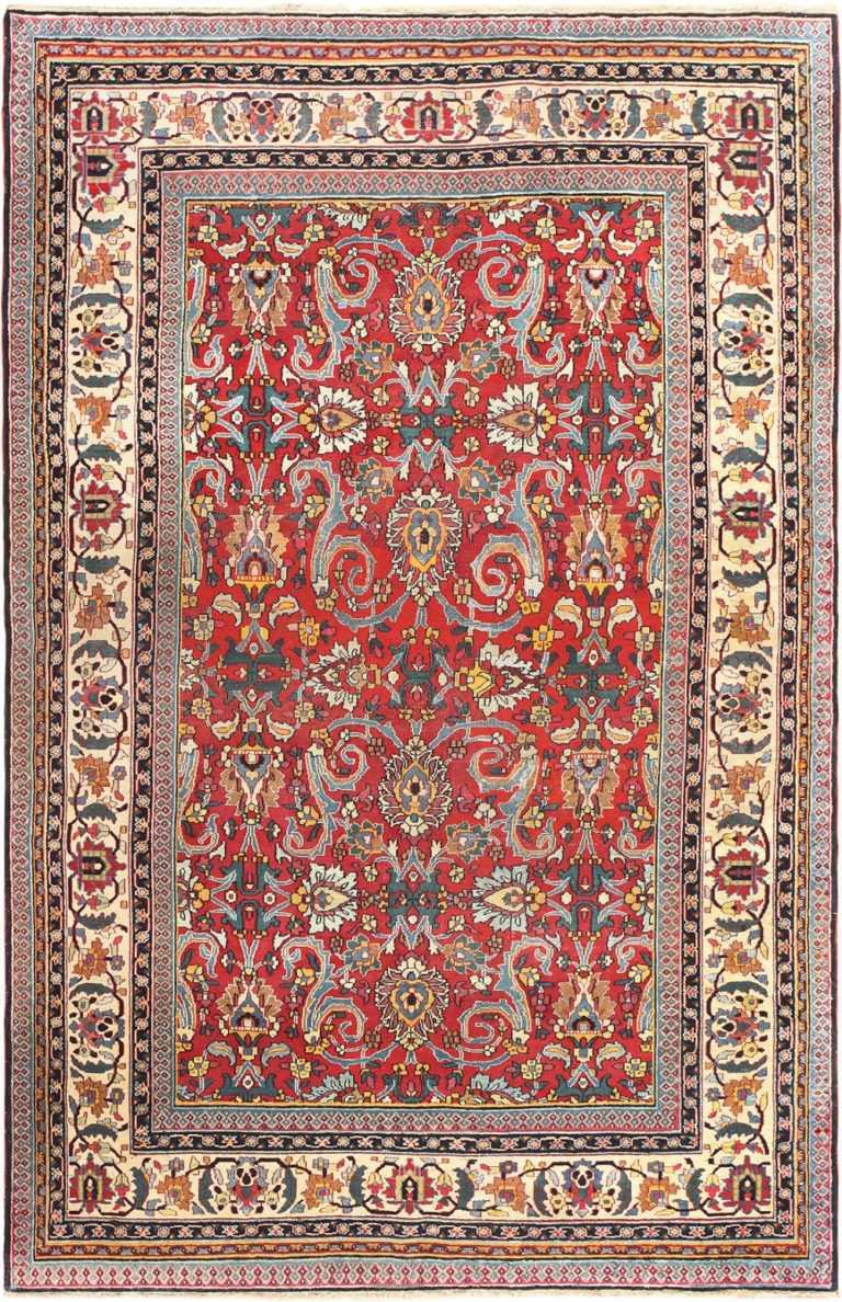 Red All Over Design Antique Persian Khorassan Rug 50353 Nazmiyal