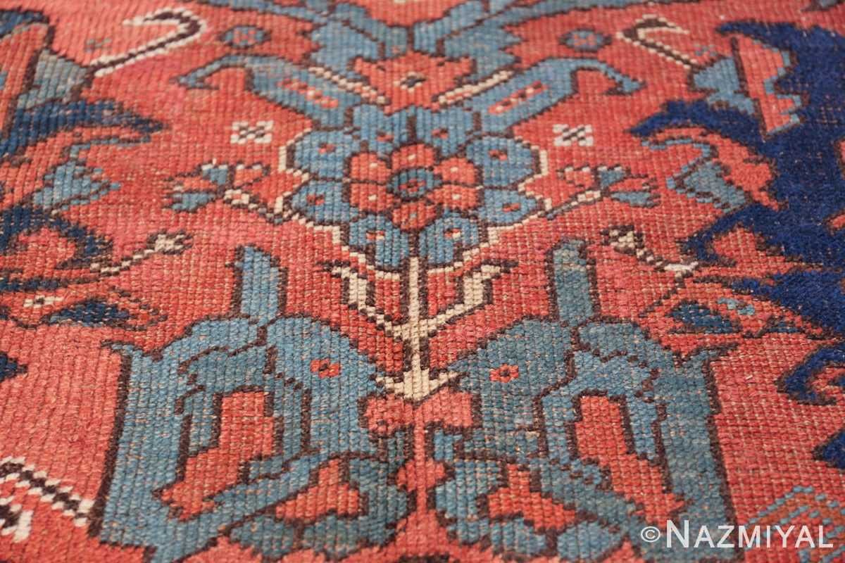 Antique 18th Century Turkish Smyrna Oushak Rug 47436 Blue Flower Nazmiyal