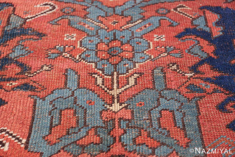 Antique 18th Century Turkish Smyrna Oushak Rug 47436 Blue Flower Nazmiyal