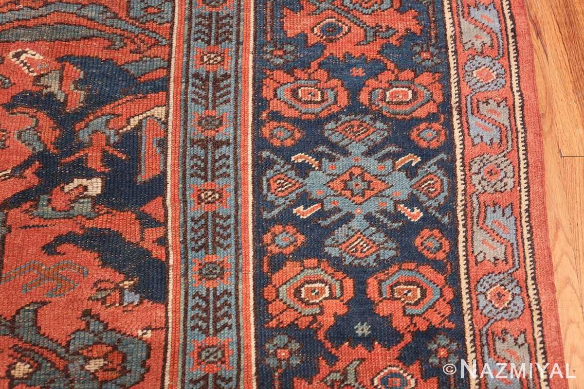 Antique 18th Century Turkish Smyrna Oushak Rug 47436 Border Design Nazmiyal