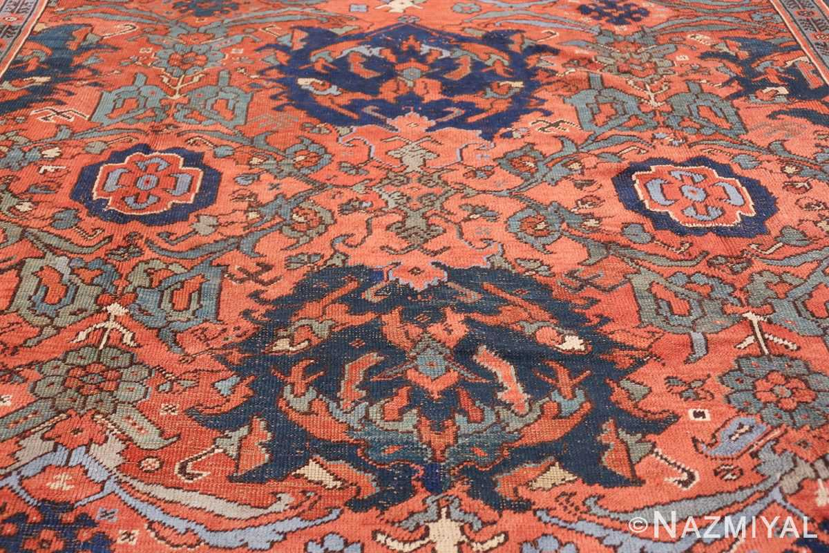 Antique 18th Century Turkish Smyrna Oushak Rug 47436 Central Medallion Nazmiyal