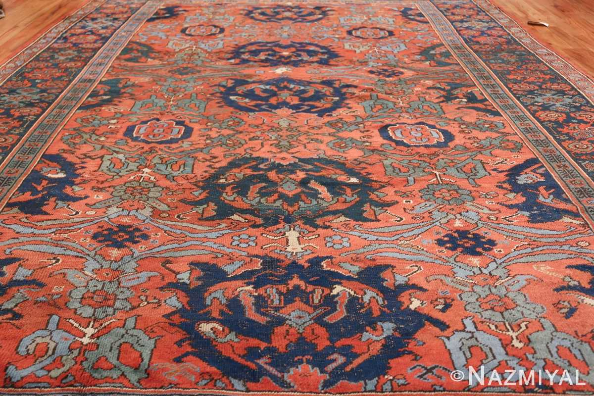 Antique 18th Century Turkish Smyrna Oushak Rug 47436 Field Design Nazmiyal