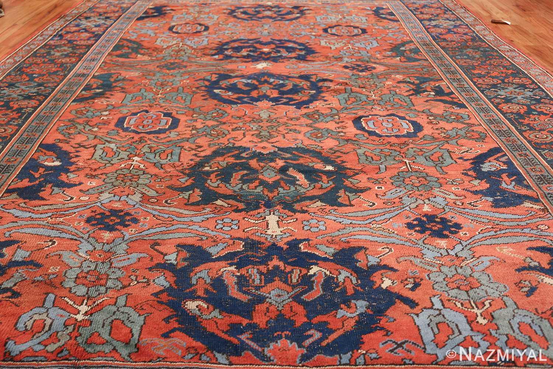 Antique 18th Century Turkish Smyrna Oushak Rug 47436 Field Design Nazmiyal