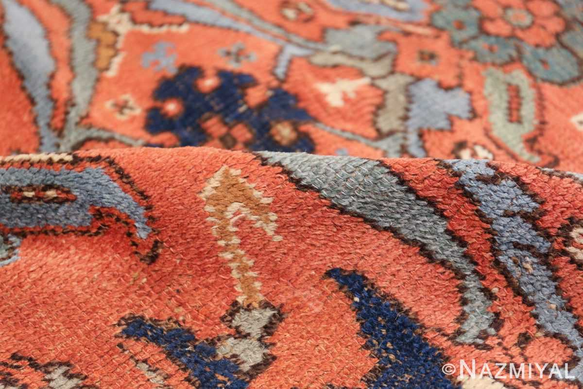 Antique 18th Century Turkish Smyrna Oushak Rug 47436 Floral Pile Nazmiyal
