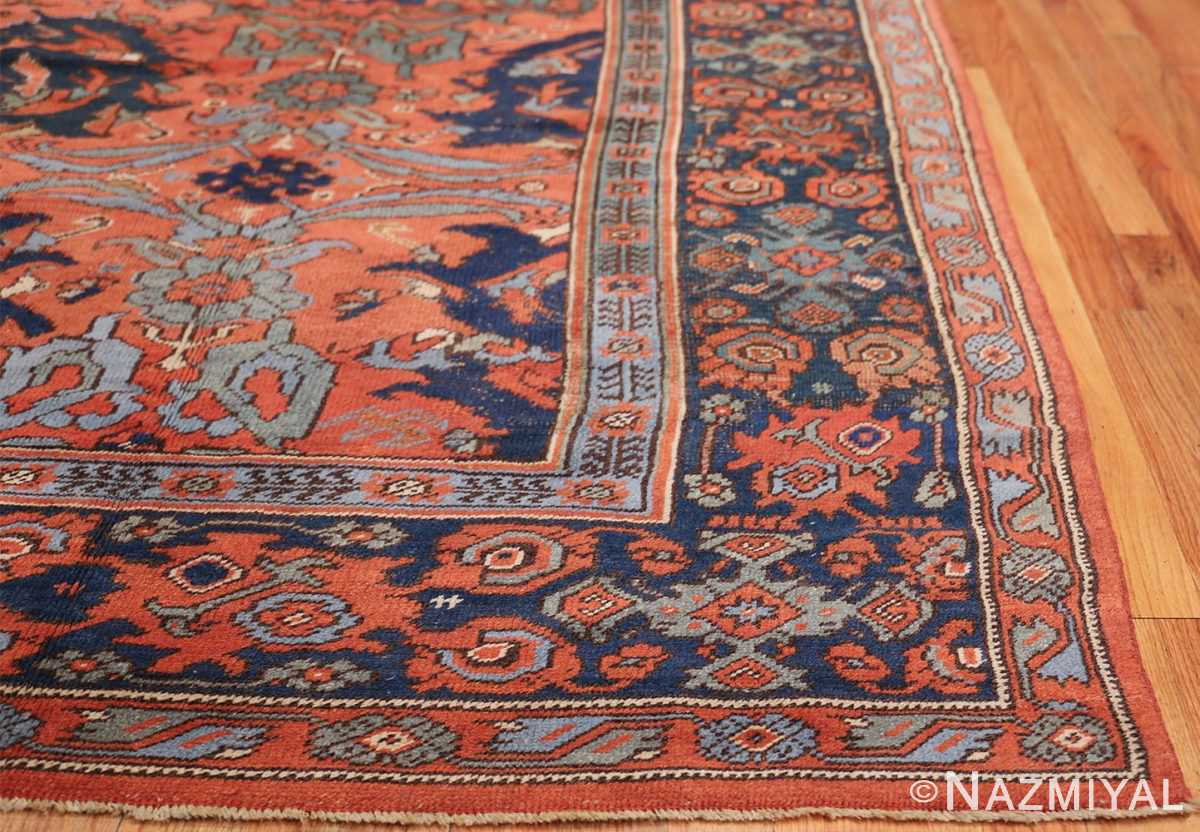 Antique 18th Century Turkish Smyrna Oushak Rug 47436 Side Corner Nazmiyal