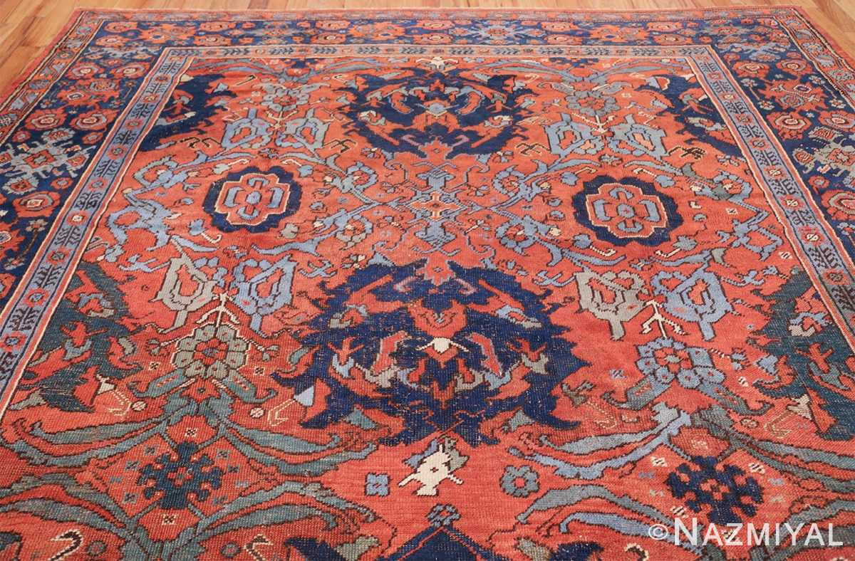 Antique 18th Century Turkish Smyrna Oushak Rug 47436 Top Design Nazmiyal