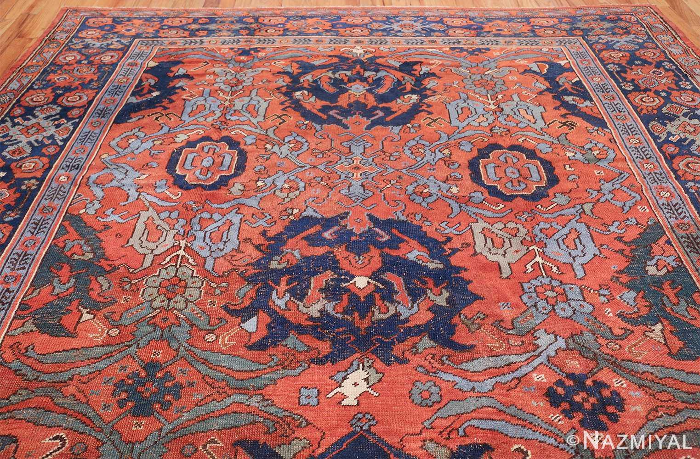 Antique 18th Century Turkish Smyrna Oushak Rug 47436 Top Design Nazmiyal