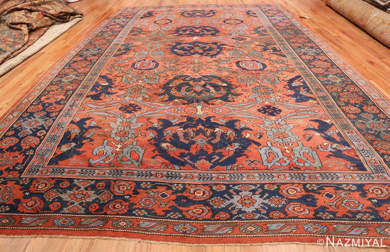 Antique 18th Century Turkish Smyrna Oushak Rug 47436 Whole Design Nazmiyal