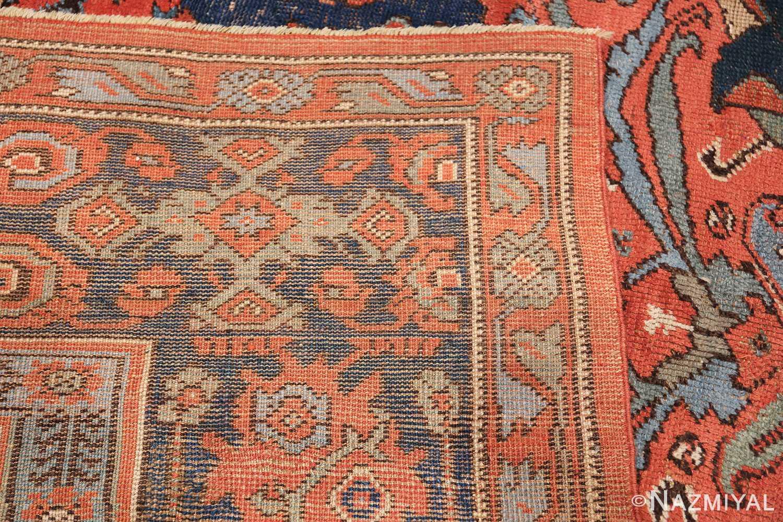 Antique 18th Century Turkish Smyrna Oushak Rug 47436 Woven Knots Nazmiyal