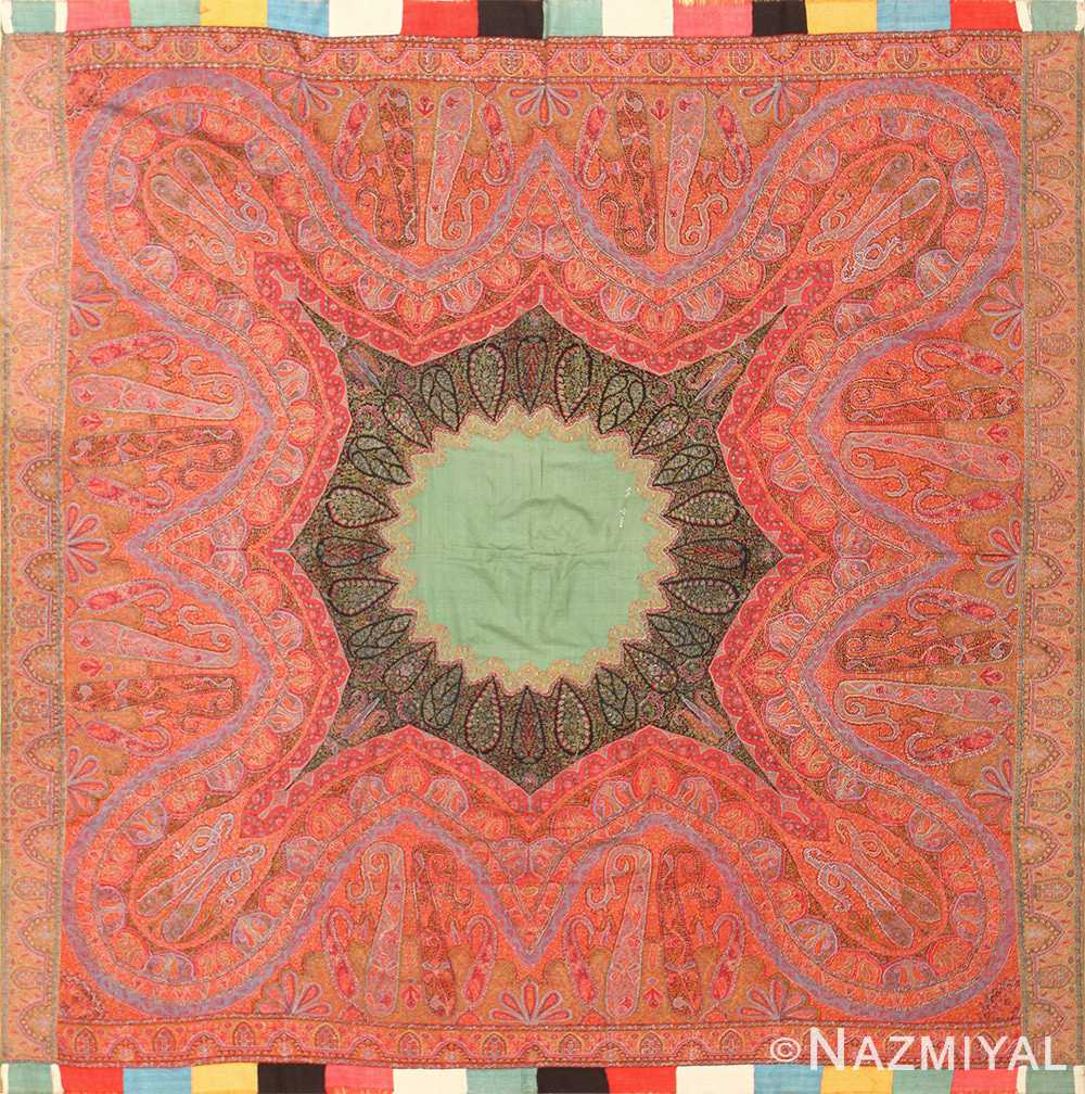 Antique Indian Floral Shawl 48612 Detail/Large View