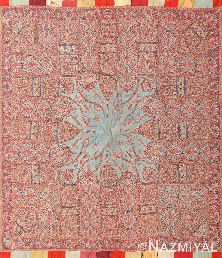 Antique Indian Art Nouveau Shawl 48618 Nazmiyal