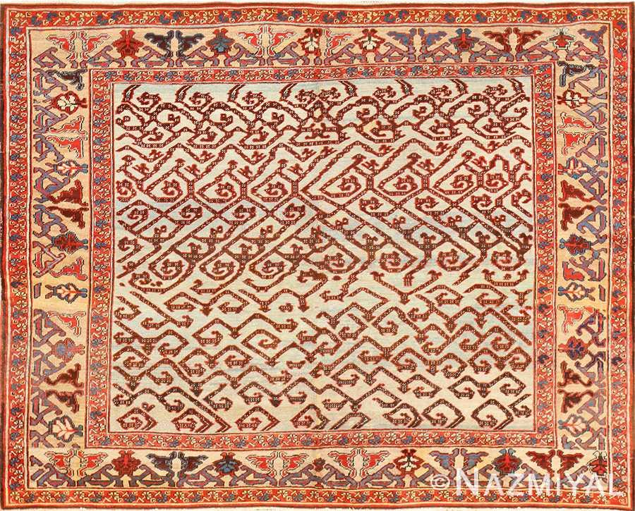 Antique Persian Dragon Bakshaish Carpet 48644 Nazmiyal