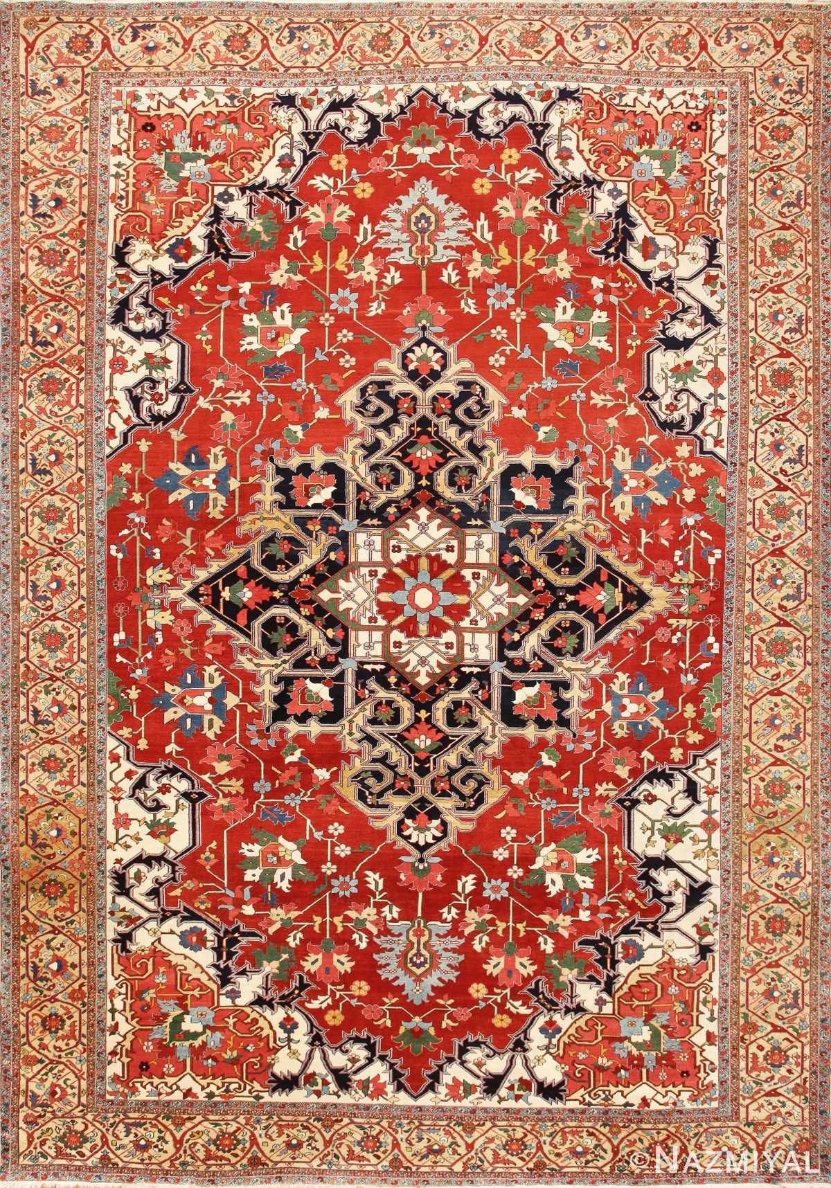 Beautiful Antique Persian Serapi Rug 48642 Nazmiyal