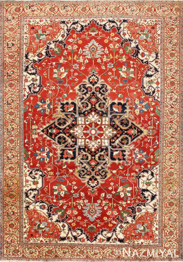 Beautiful Antique Persian Serapi Rug 48642 Nazmiyal