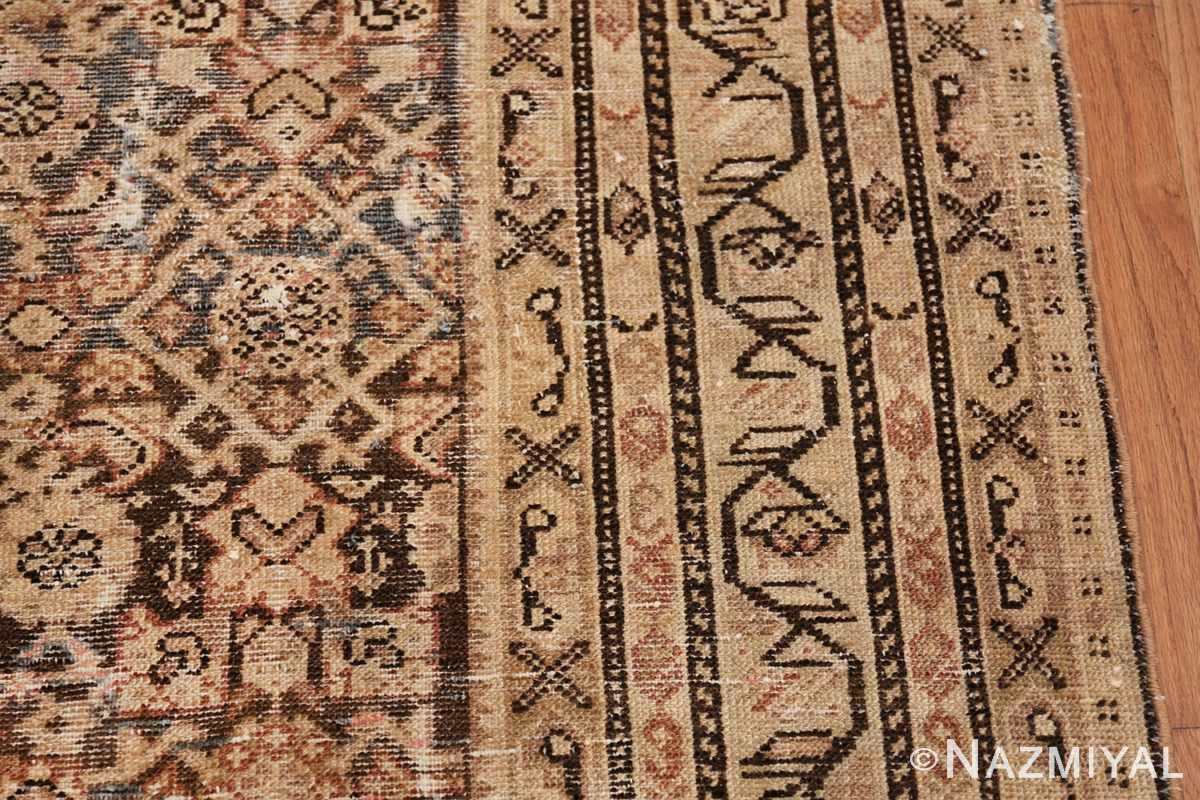 Antique Persian Shabby Chic Malayer Wide Hallway Gallery Rug 50268 Border Design Nazmiyal