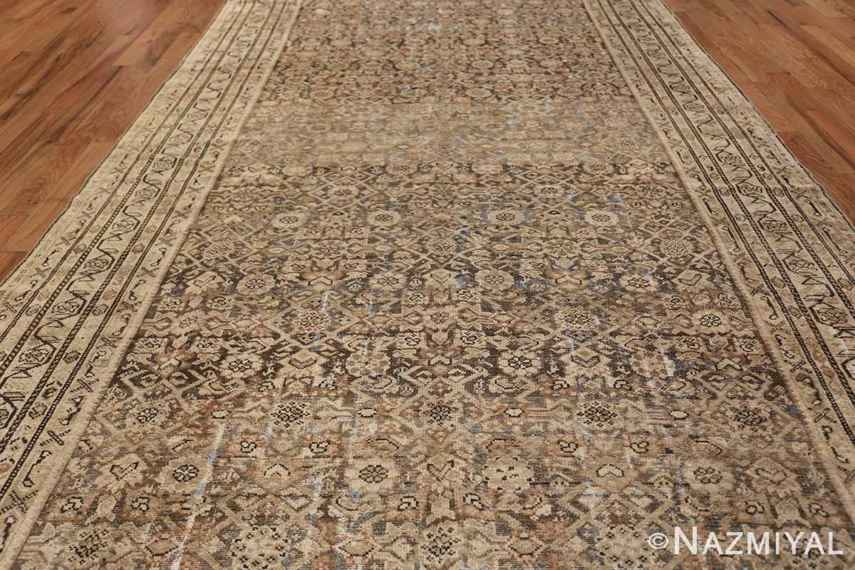 Antique Persian Shabby Chic Malayer Wide Hallway Gallery Rug 50268 Field Design Nazmiyal
