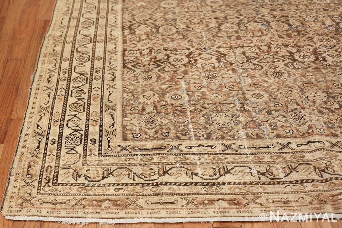 Antique Persian Shabby Chic Malayer Wide Hallway Gallery Rug 50268 Side Corner Nazmiyal