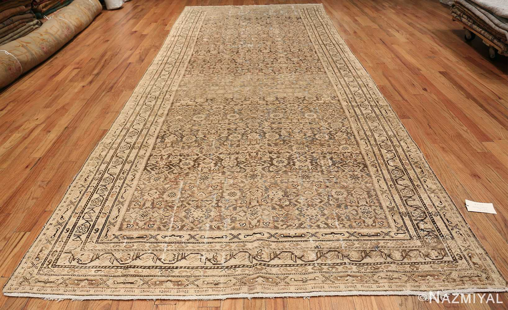 Antique Persian Shabby Chic Malayer Wide Hallway Gallery Rug 50268 Whole Design Nazmiyal
