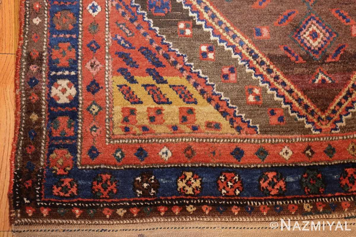 antique persian tribal kurdish rug 48610 corner Nazmiyal