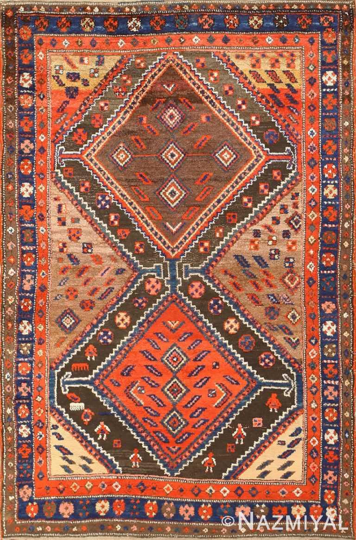 Antique Persian Tribal Kurdish Rug 48610 by Nazmiyal
