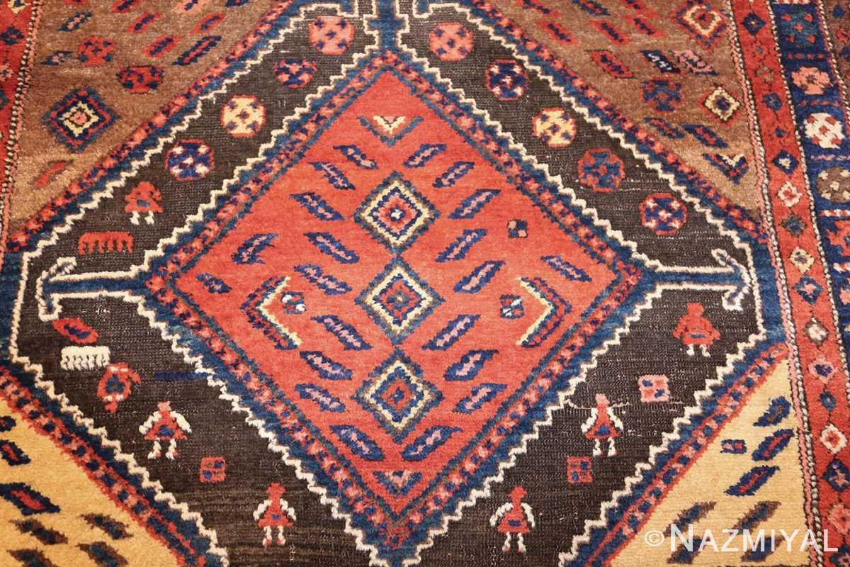 antique persian tribal kurdish rug 48610 meallion Nazmiyal